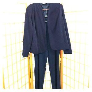 Navy Pants Suit